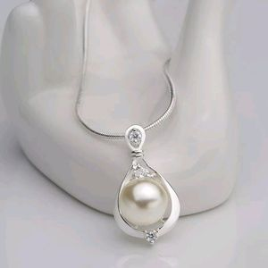 Jewelry 925 Sterling Silver Crystal Pearl Pendant